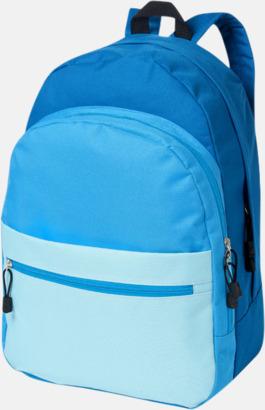 Blå Nyanserade ryggsäckar med reklamtryck