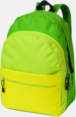 Grön Nyanserade ryggsäckar med reklamtryck