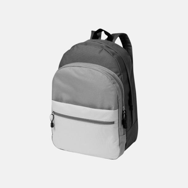 Grå Nyanserade ryggsäckar med reklamtryck