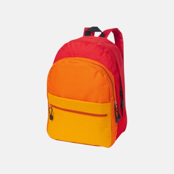 Röd Nyanserade ryggsäckar med reklamtryck