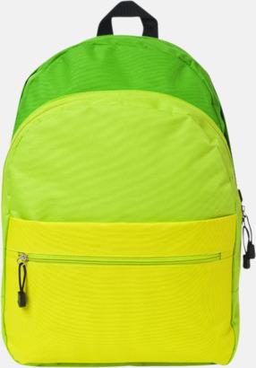 Nyanserade ryggsäckar med reklamtryck