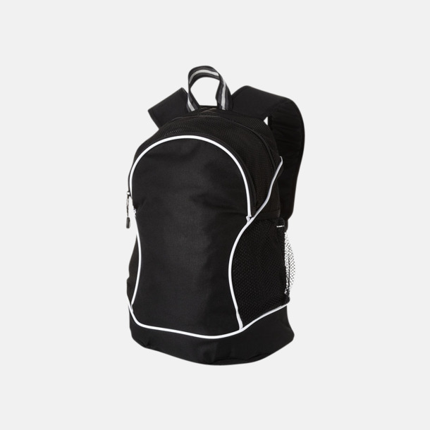 Svart Sportiga ryggsäckar med reklamtryck