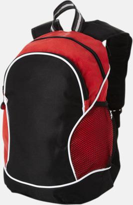 Svart / Röd Sportiga ryggsäckar med reklamtryck