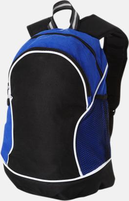 Svart/Royal Sportiga ryggsäckar med reklamtryck