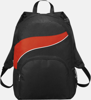 Billiga ryggsäckar ned vågaccent - med reklamtryck