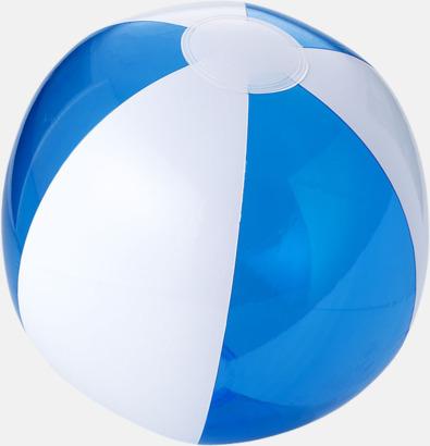 Transparent Blå/Vit Uppblåsbara, randiga badbollar med eget tryck