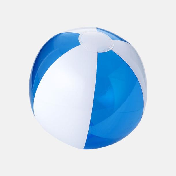 Transparent Blå/Vit Uppblåsbara, randiga badbollar med eget reklamtryck