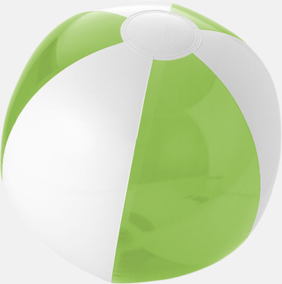 Transparent Limegrön/Vit Uppblåsbara, randiga badbollar med eget tryck