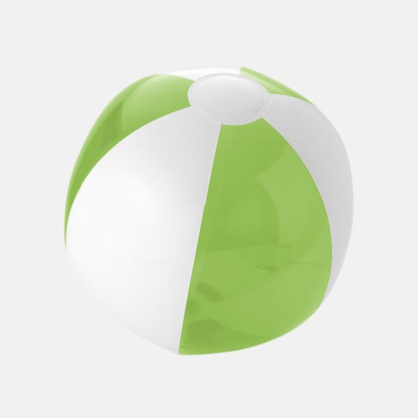 Transparent Limegrön/Vit Uppblåsbara, randiga badbollar med eget reklamtryck