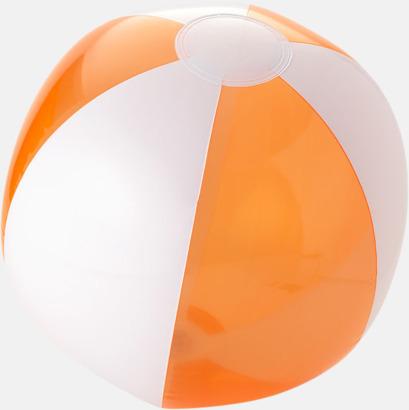Transparent Orange/Vit Uppblåsbara, randiga badbollar med eget tryck