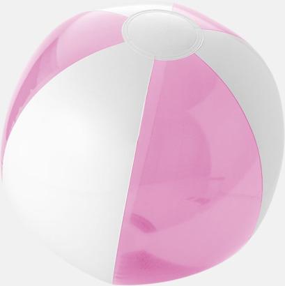 Transparent Rosa/Vit Uppblåsbara, randiga badbollar med eget tryck