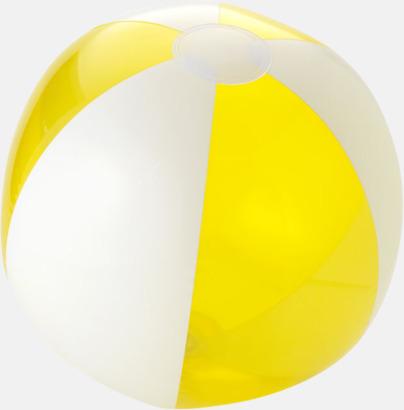 Transparent Gul/Vit Uppblåsbara, randiga badbollar med eget tryck