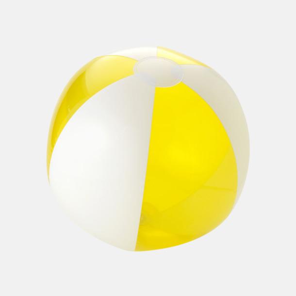 Transparent Gul/Vit Uppblåsbara, randiga badbollar med eget reklamtryck