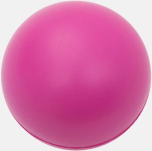 Rosa (endast 1-färgstryck) Trycka stressbollar - Stressbollar med tryck