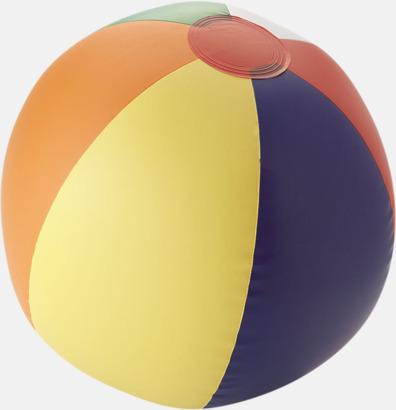 Rainbow Uppblåsbara, randiga badbollar med eget tryck
