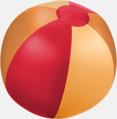 Röd (trefärgad) Uppblåsbara, randiga badbollar med eget tryck