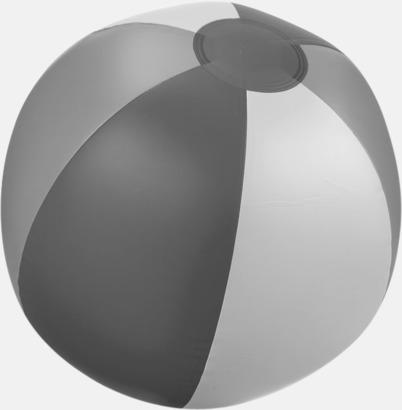 Grå (trefärgad) Uppblåsbara, randiga badbollar med eget tryck