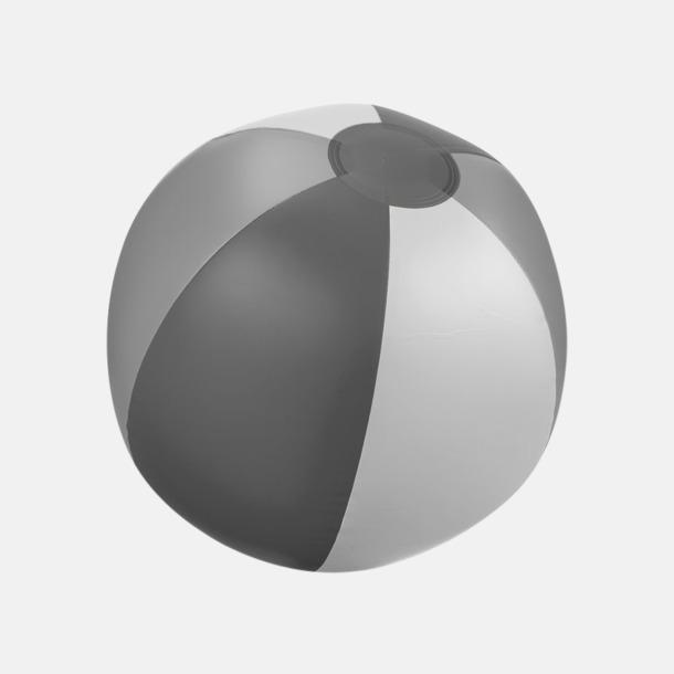 Grå (trefärgad) Uppblåsbara, randiga badbollar med eget reklamtryck