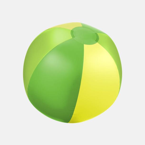 Grön (trefärgad) Uppblåsbara, randiga badbollar med eget reklamtryck