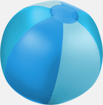 Blå (trefärgad) Uppblåsbara, randiga badbollar med eget tryck