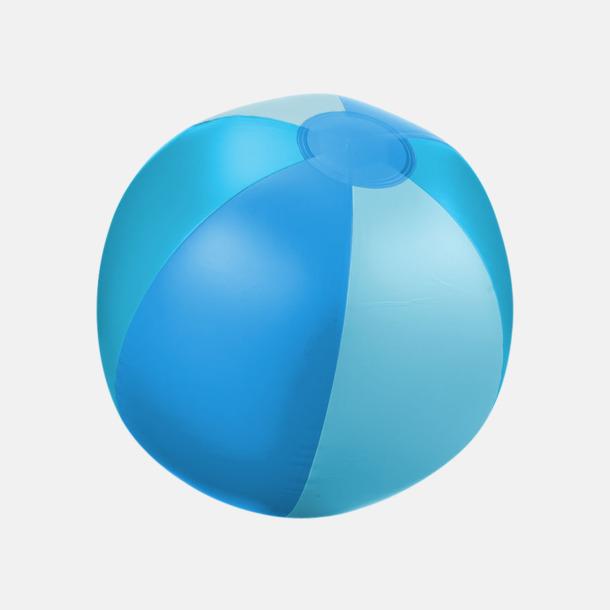 Blå (trefärgad) Uppblåsbara, randiga badbollar med eget reklamtryck
