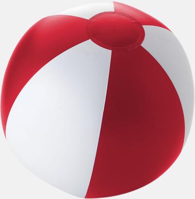 Solid Röd/Vit Uppblåsbara, randiga badbollar med eget tryck