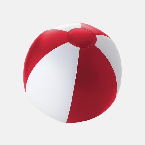 Solid Röd/Vit Uppblåsbara, randiga badbollar med eget reklamtryck