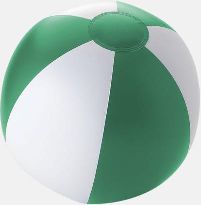 Solid Grön/Vit Uppblåsbara, randiga badbollar med eget tryck
