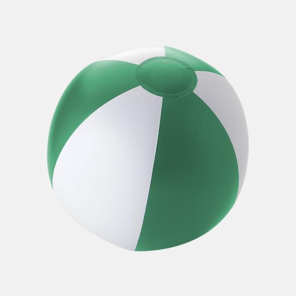 Solid Grön/Vit Uppblåsbara, randiga badbollar med eget reklamtryck