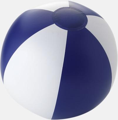 Solid Blå/Vit Uppblåsbara, randiga badbollar med eget tryck