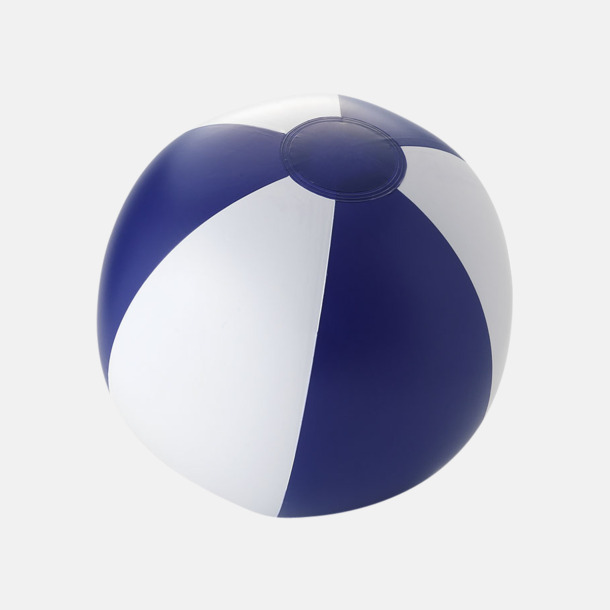 Solid Blå/Vit Uppblåsbara, randiga badbollar med eget reklamtryck