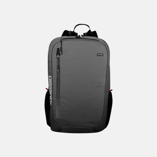 Grå Lätta datorryggsäckar med reklamtryck