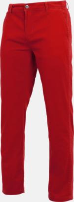 Cherry Red Herrbyxor i många färger med reklamtryck