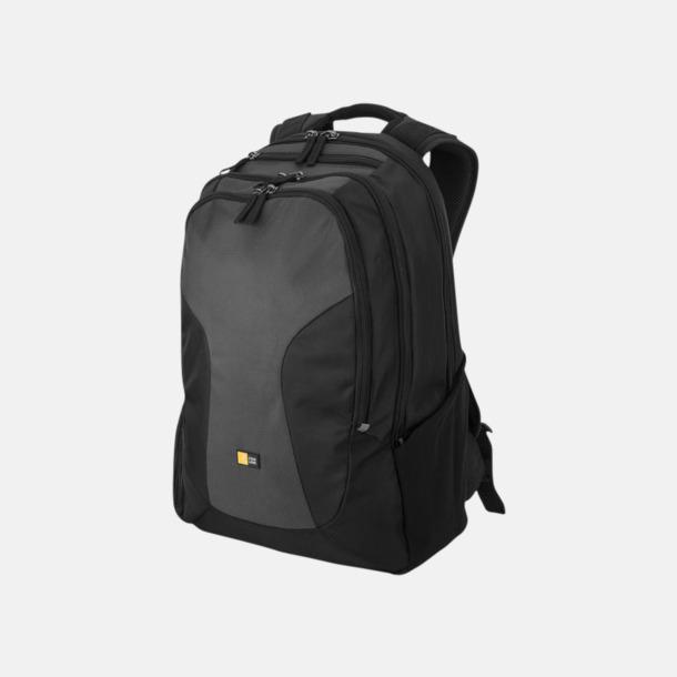 """Svart / Grå 15,6"""" datorryggsäckar med reklamtryck"""