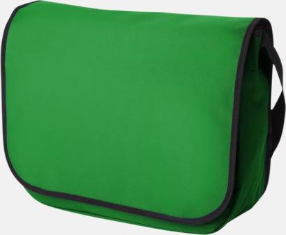 Klargrön Polyester axelväskor med reklamtryck