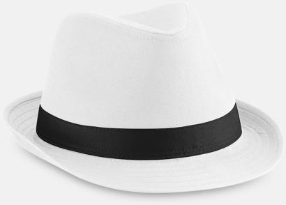 Vit / Svart Stiliga hattar med reklamtryck