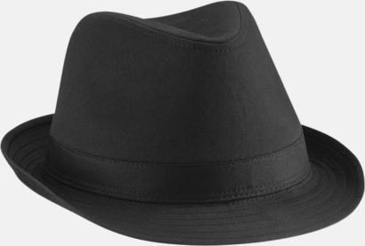 Svart Stiliga hattar med reklamtryck
