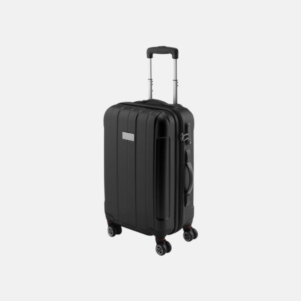 """Svart (blank) 20"""" kabinväska med 4 hjul - med reklamtryck"""