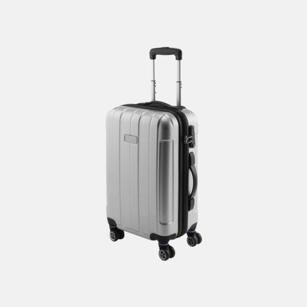 """Silver 20"""" kabinväska med 4 hjul - med reklamtryck"""
