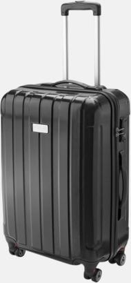"""Svart (blank) 24"""" kabinväska med 4 hjul - med reklamtryck"""