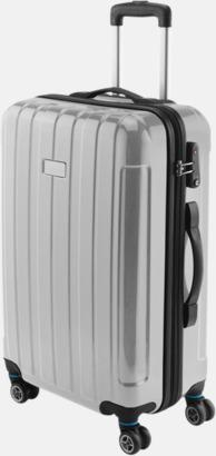 """Silver 24"""" kabinväska med 4 hjul - med reklamtryck"""