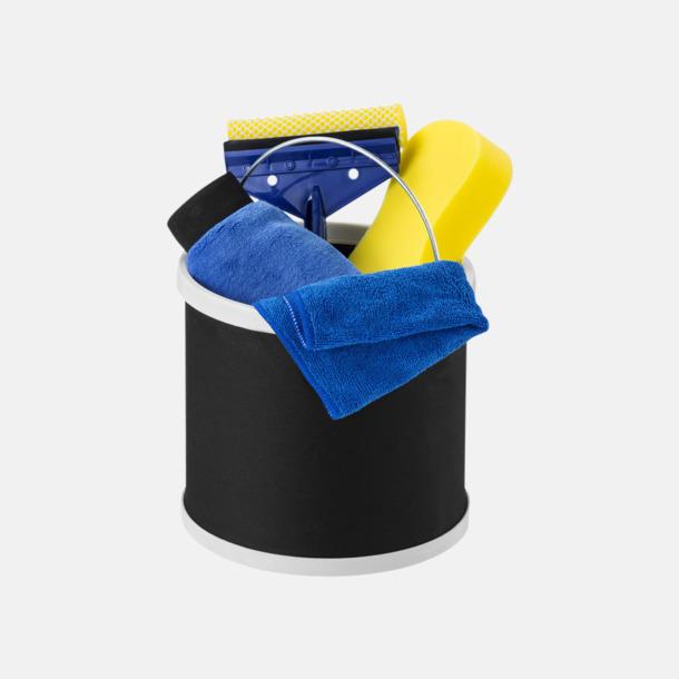 Svart Biltvätt-kit i 6 delar med reklamtryck