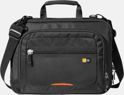 Svart / Orange Extra smidig väska vid säkerhetskontroller - med reklamtryck