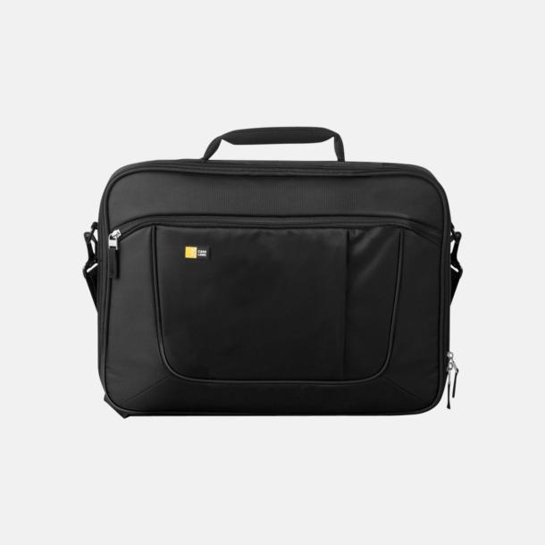 Svart Fina väskor för laptops & iPads - med reklamtryck