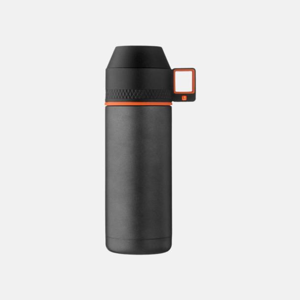 Grå/Svart/Orange 20 cl termosflaskor med reklamtryck
