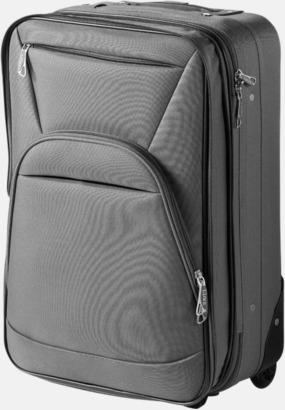 Grå Expanderbara handbagageväskor med reklamtryck