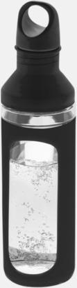 Svart Glasflaskor med silikonskydd - med reklamtryck