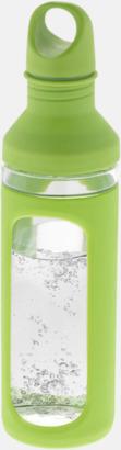 Grön Glasflaskor med silikonskydd - med reklamtryck