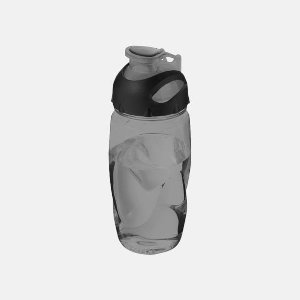 Transparent Svart Sportiga vattenflaskor med reklamtryck