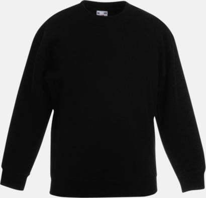 Svart Klassiska sweatshirt tröjor för barn - med reklamtryck